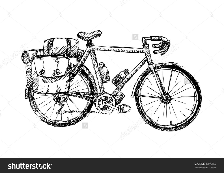 Touring Bike Clipart