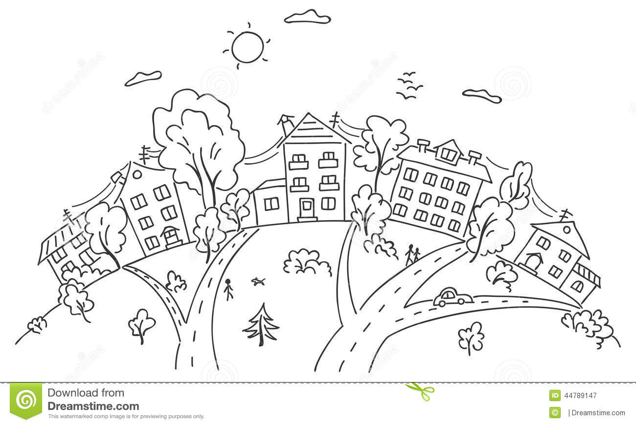 Town Hill Clipart