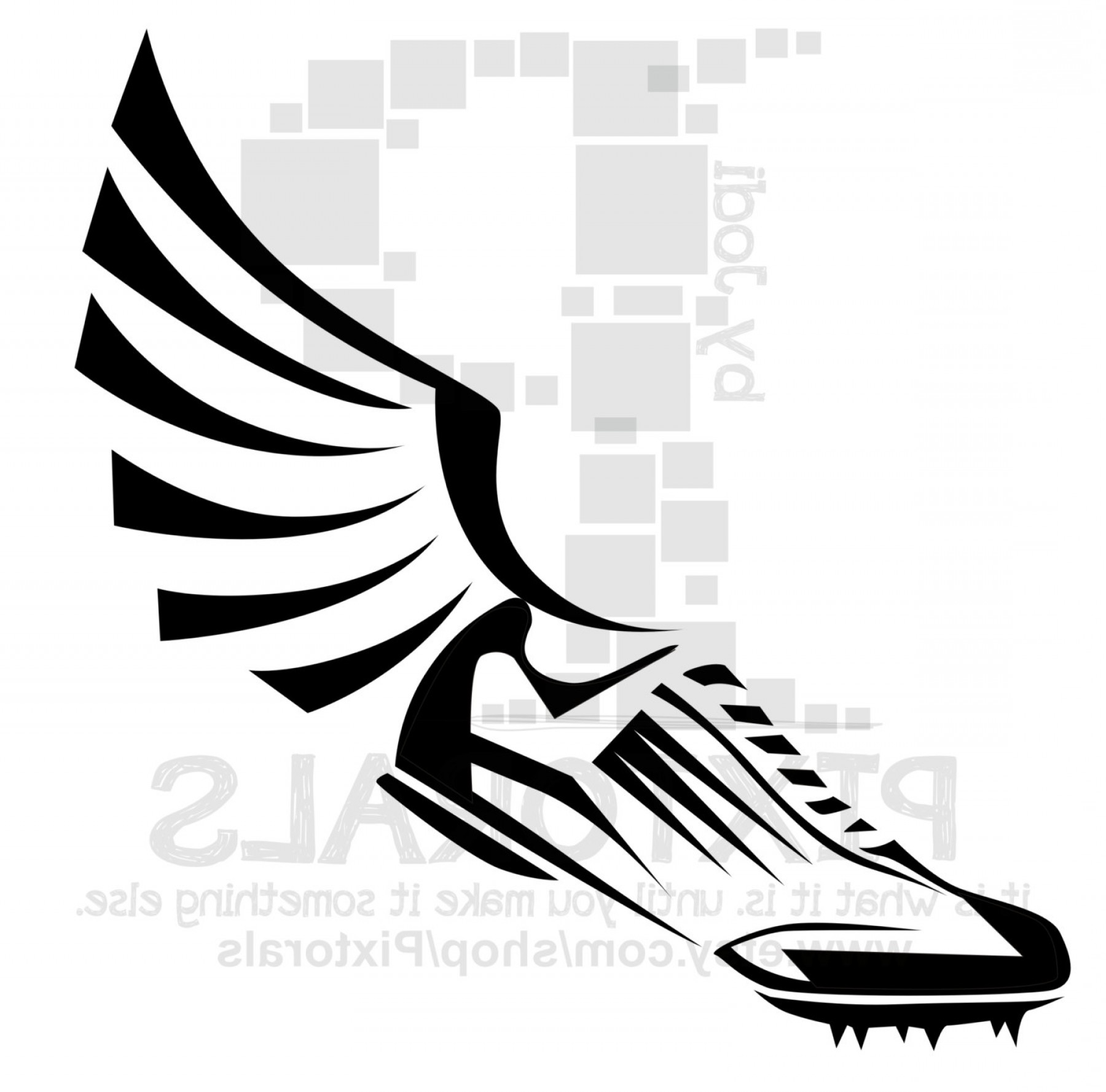 Track Spikes No Wings Clipart