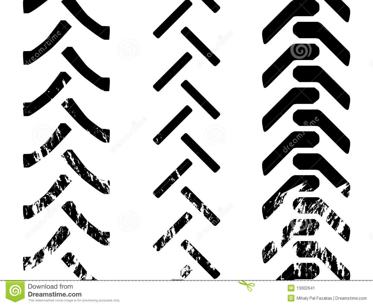 Tractor Tracks Clipart