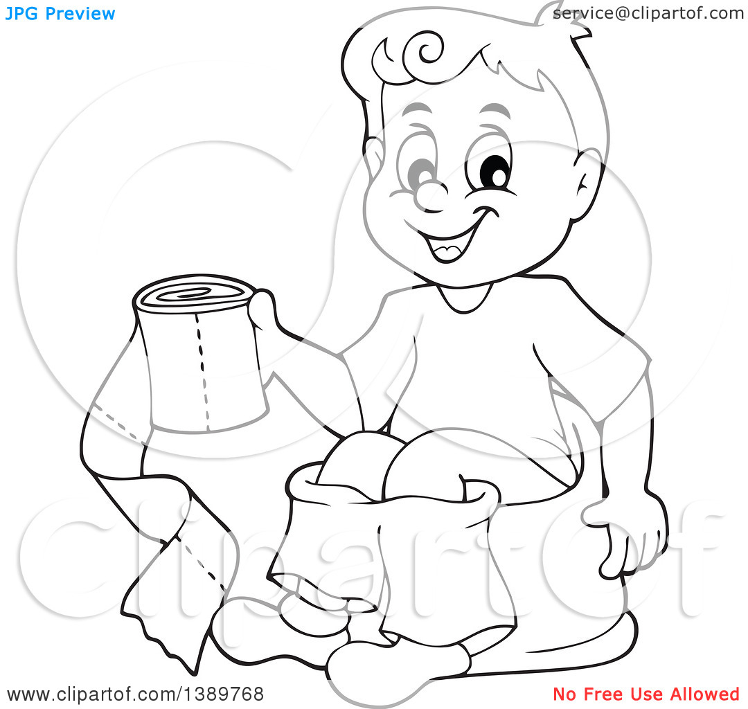 Training Black White Clipart