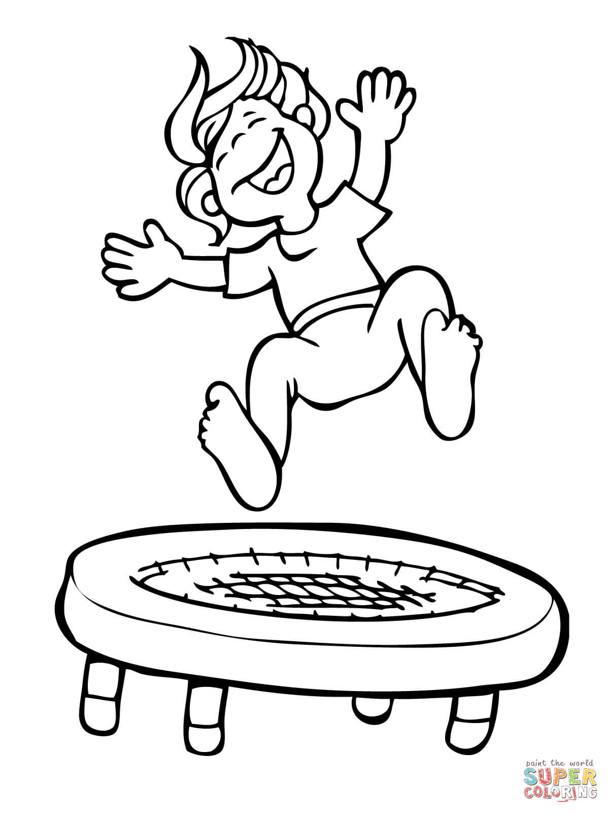 Trampoline Clipart Black And White