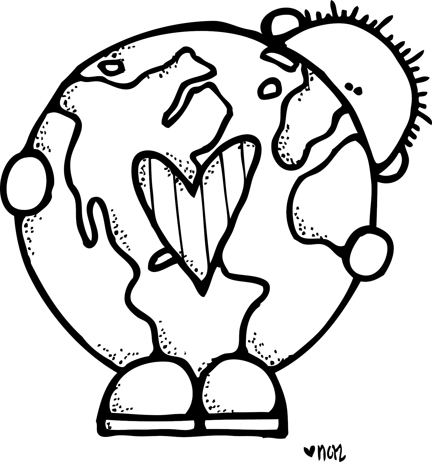 Earth Clipart For Kids Black And White 20 Free Cliparts