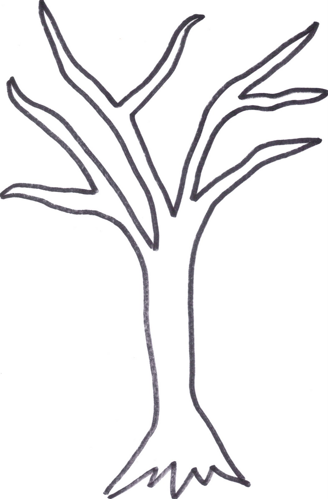 Tree Trunk Clipart Black And White