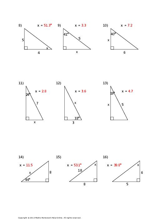Trigonometry Worksheets 20 Free Cliparts