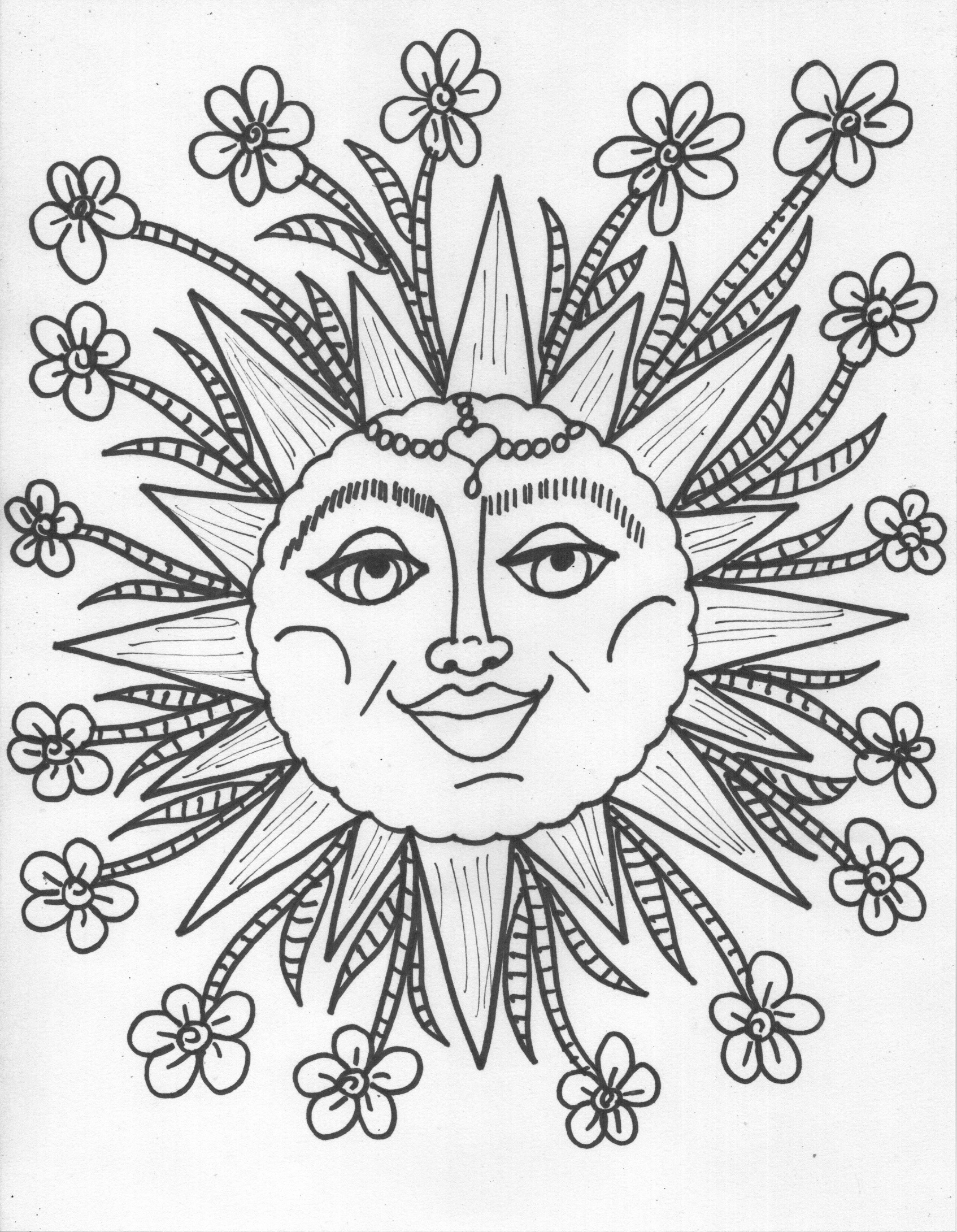 Trippy Sun And Moon Clipart