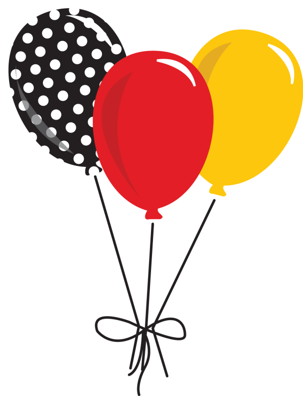 mickey mouse balloon clipart - Clipground