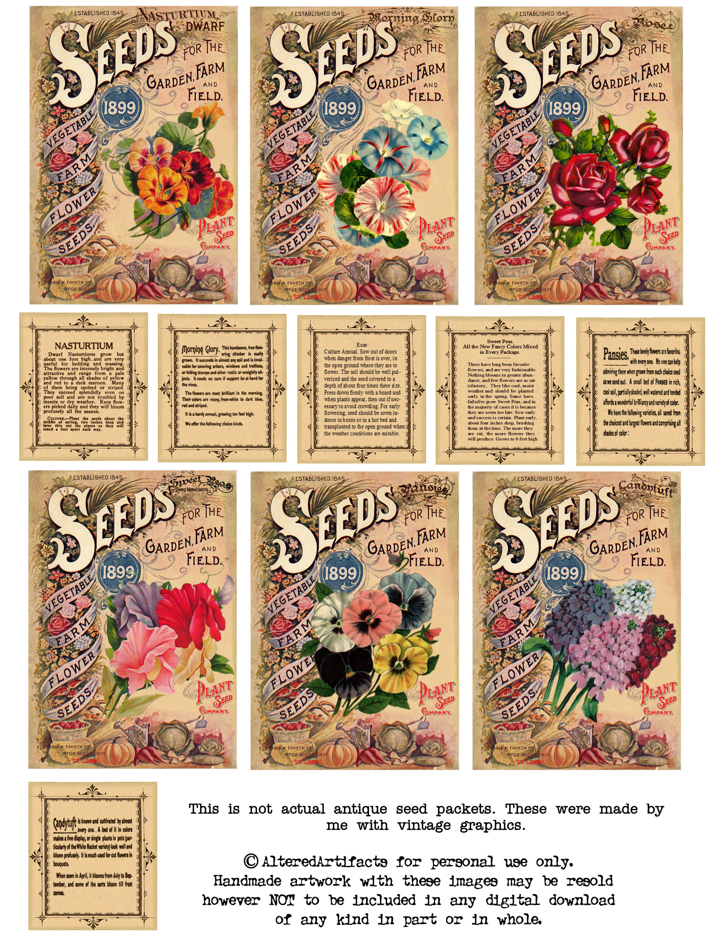 Vintage Seed Packet Clipart
