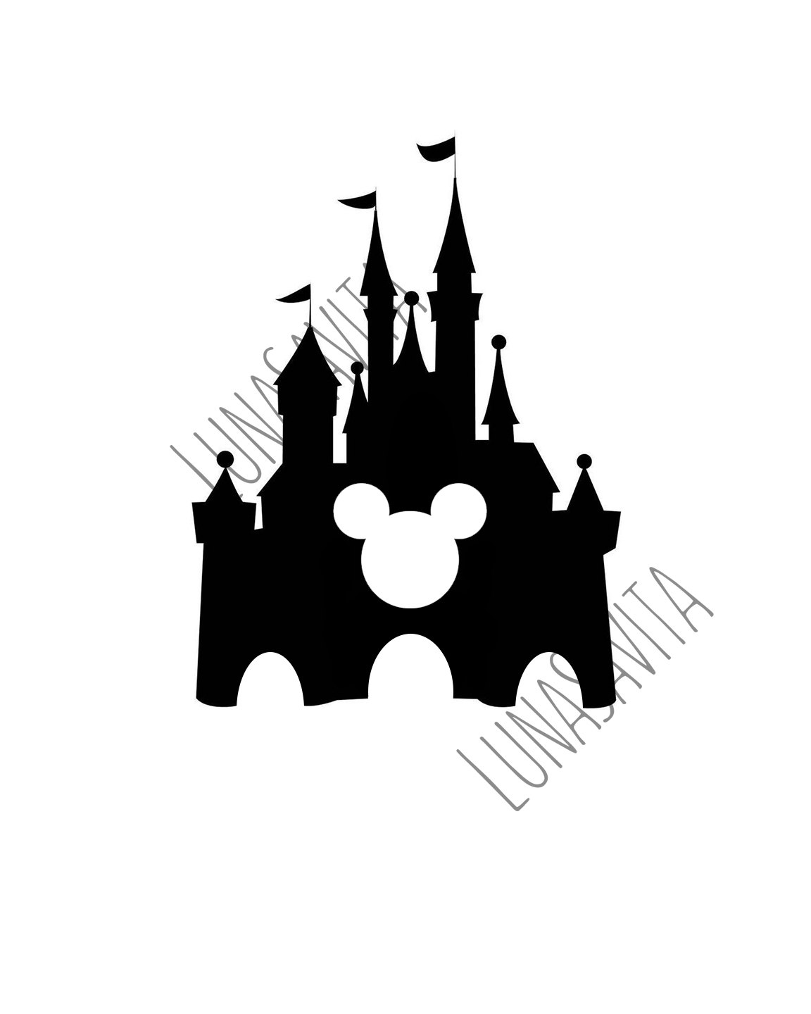 Walt Disney Head Silhouette
