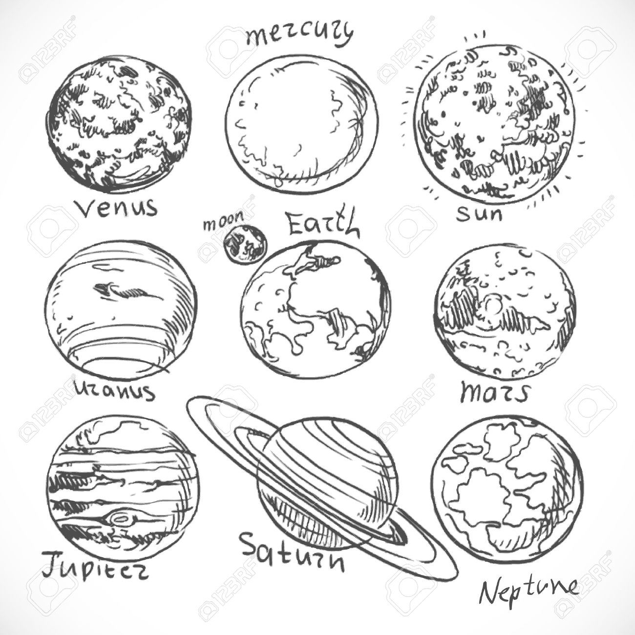 Water On Mars Clipart Black And White