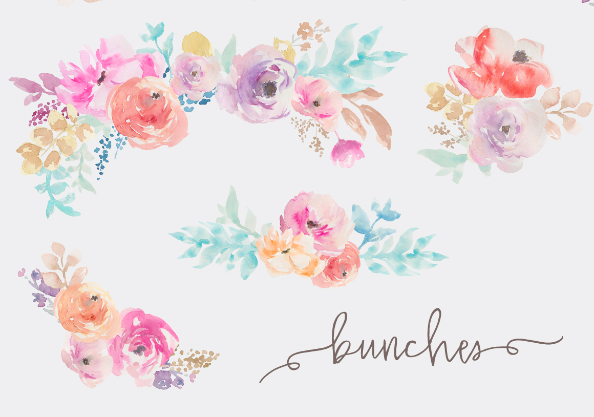 Watercolor Clipart Flower Clipground