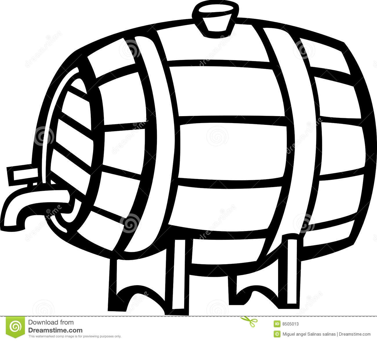 White Beer Keg Clipart