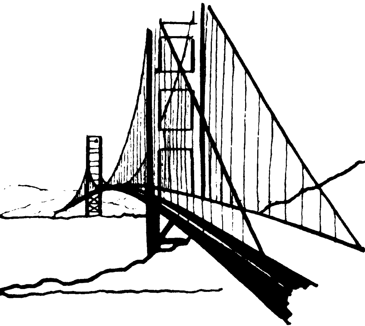 White Bridge Clipart