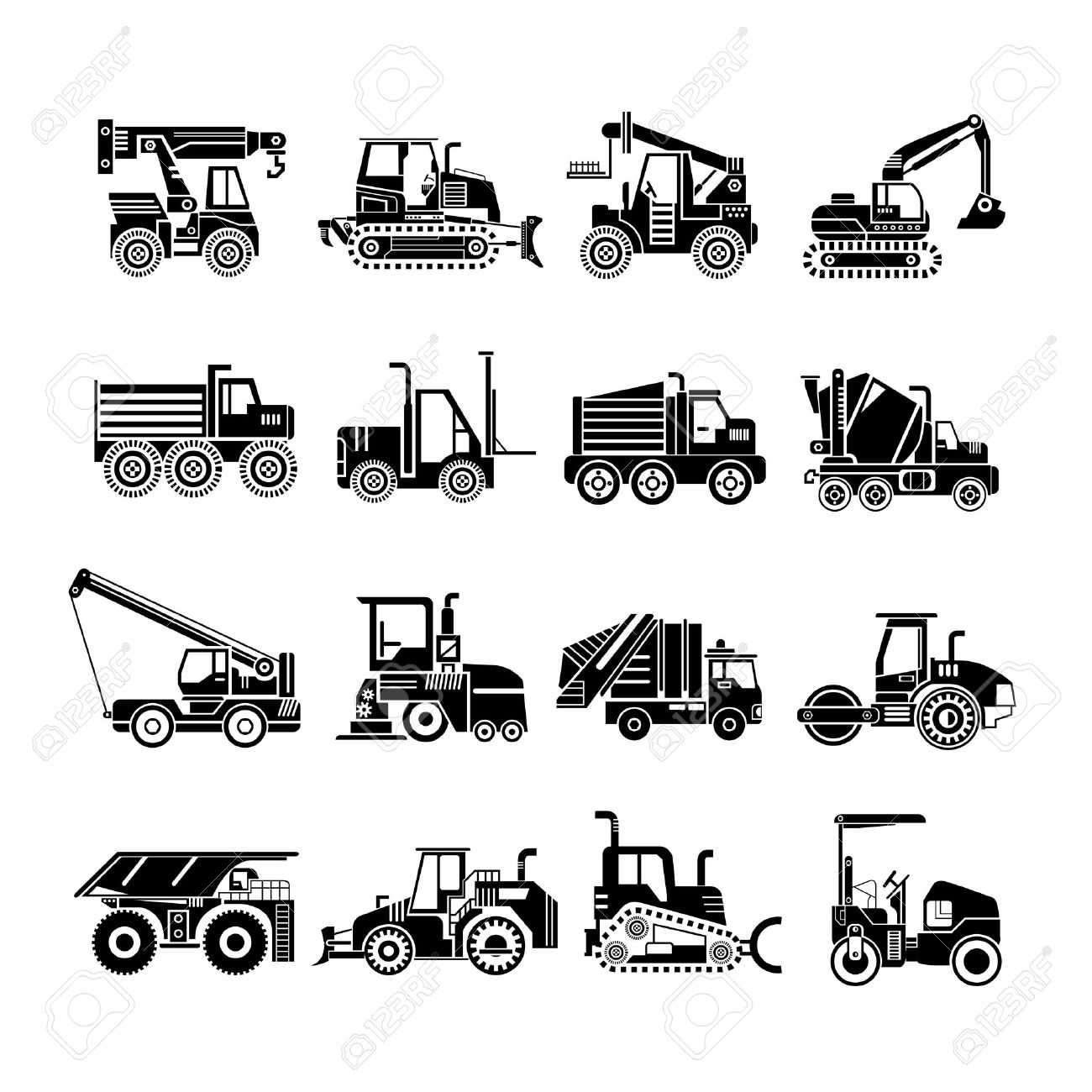 Work Vehicles Clipart