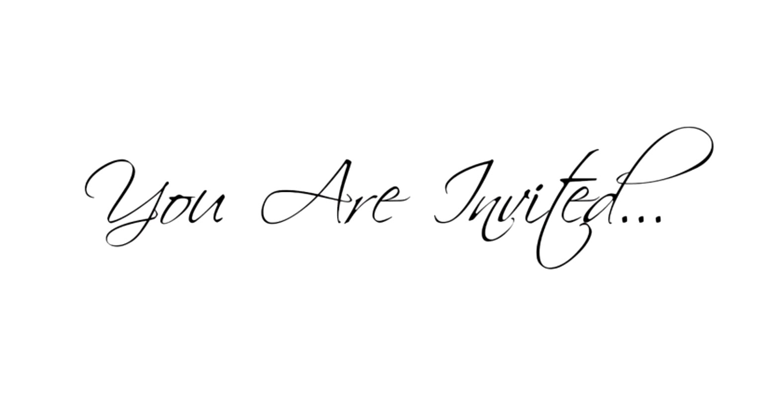 Your Invited Clipart