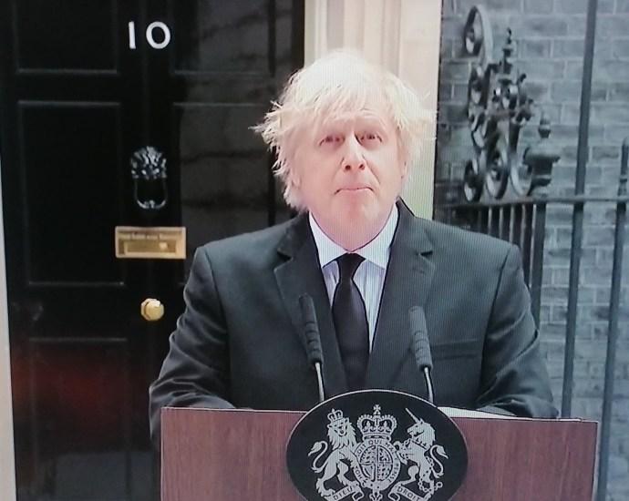 Boris Johnson at Number 10