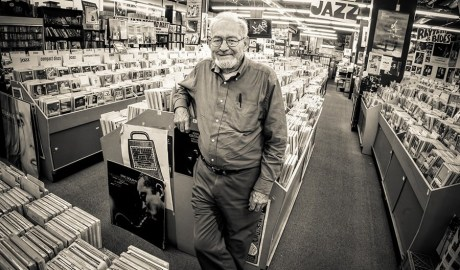 Bob Koester in the stacks at the Jazz Record Mart in 2009 MICHAEL JACKSON