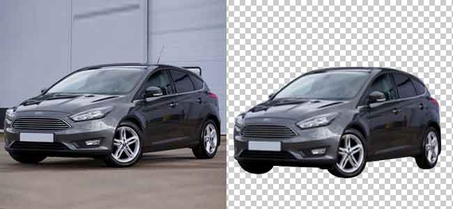 Remove unwanted background automobile