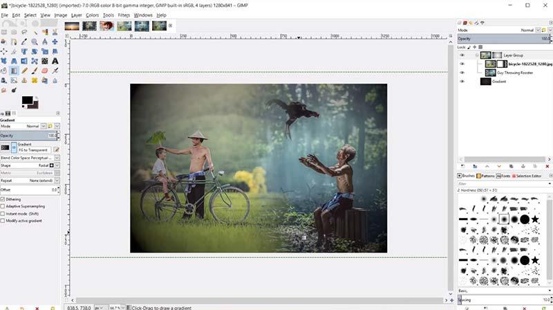 GIMP vs Photoshop