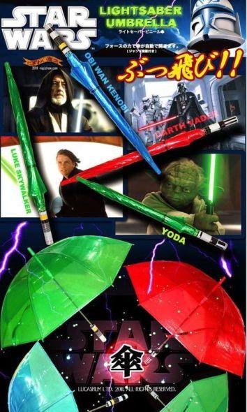 paraguas sable laser