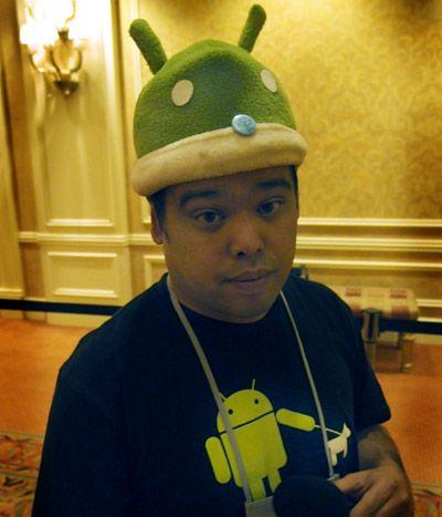 android man costume hut