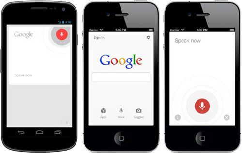 Interfaz Voice Search