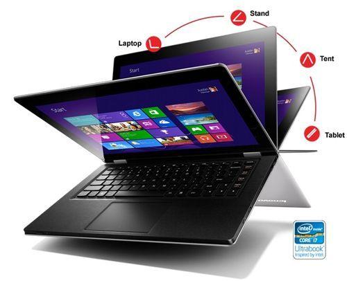 Posiciones posibles, Lenovo IdeaPad Yoga