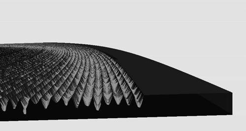 Detalle disco vinilo creado en impresora 3D