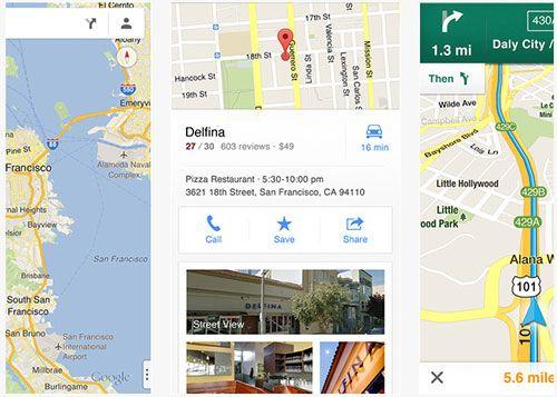 google maps new app