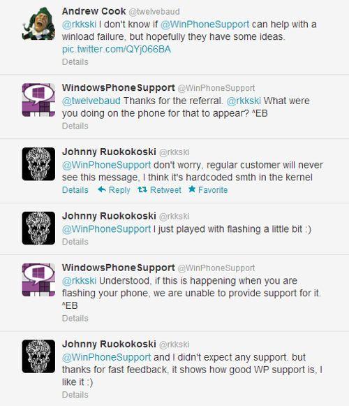 Conversacion Twitter problema Windows Phone