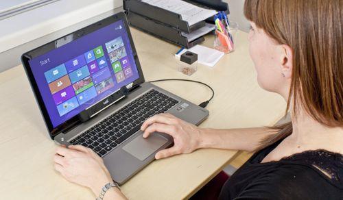 Tobii REX en ordenador portátil
