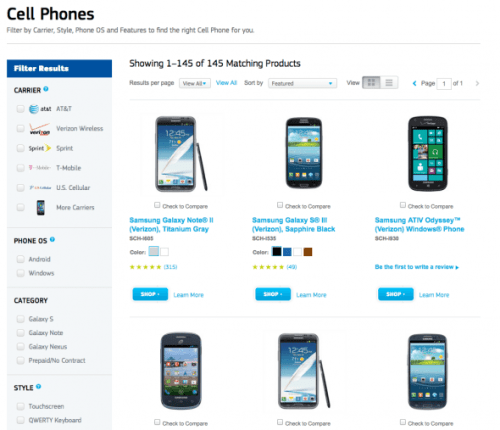 samsung-lists-145-products-on-its-web-site-under-the-cell-phones-category-apple-has-three-phones-in-two-different-colors