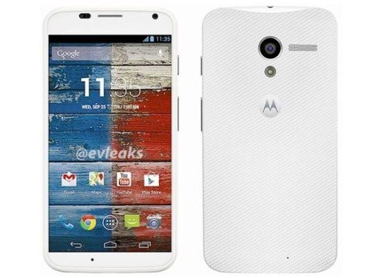 Motorola Moto X phone blanco Google clipset
