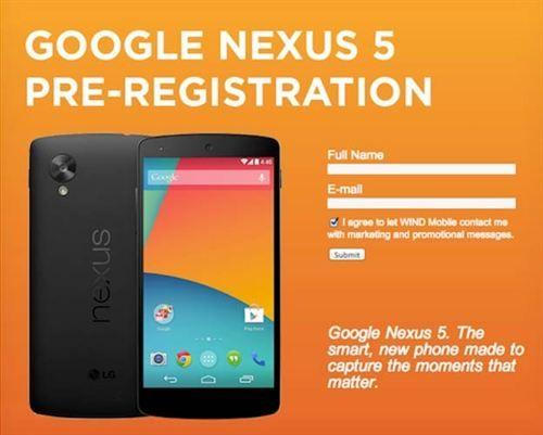Nexus 5 preregistro