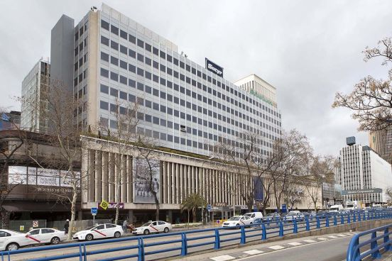 Edificio en el Paseo de la Castellana, 85, nuevo hub tecnológico de Amazon en España