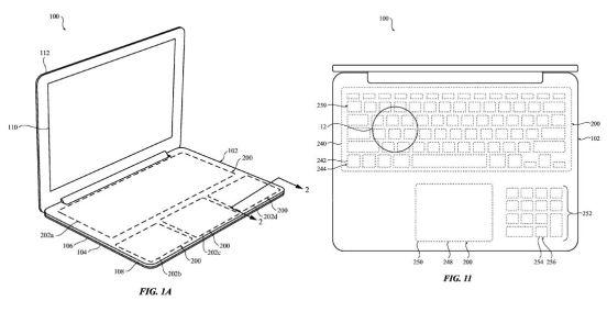 apple teclado patente 1
