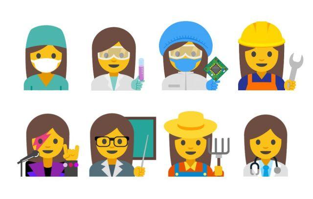emoji mujeres google