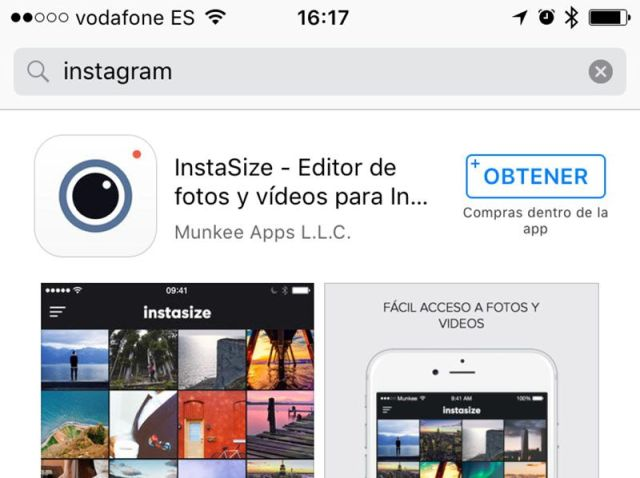 instagram no app store