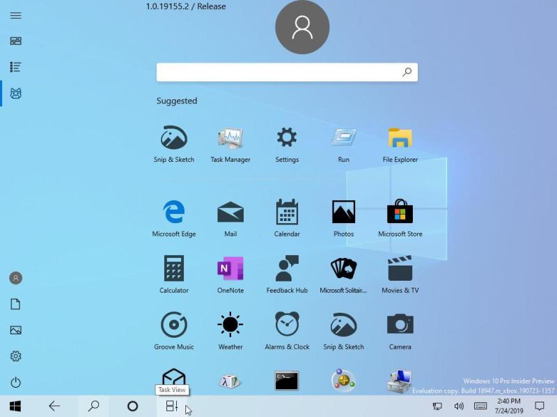 menu windows microsoft
