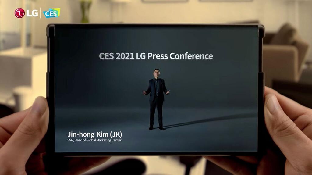 LG Rollable pantalla enrollable