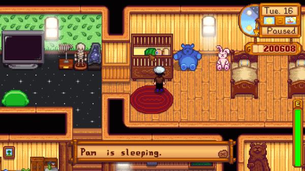 PAM IS SLEEPING
