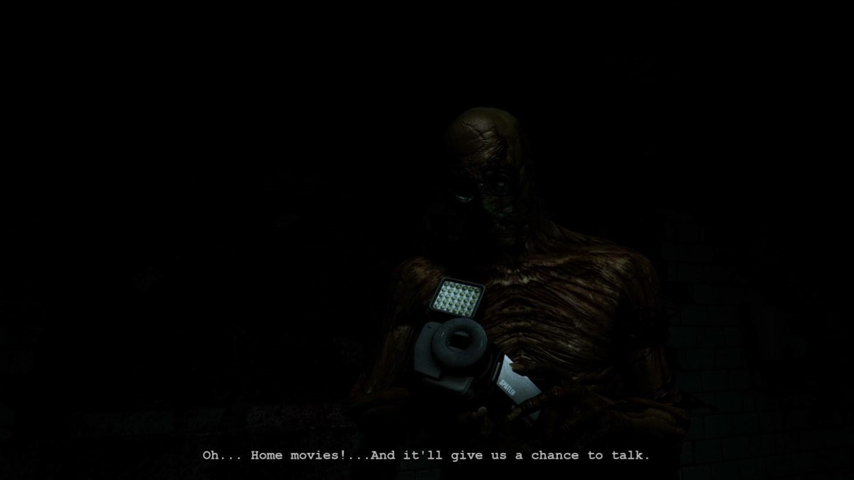 a skeletal body steals your camera in Outlast