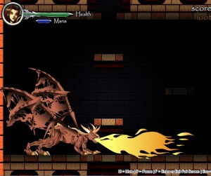 Twenty-five dungeon levels of slashing, sliding and blasting until you reach the dragon