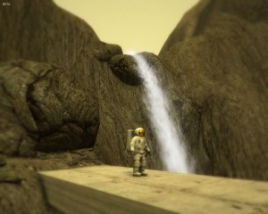 In every game I play, I try to screenshot myself standing in front of a waterfall. Thank goodness outer space has waterfalls too!