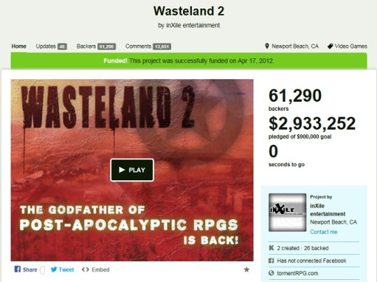 wasteland2 kickstarter
