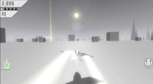 In Race the Sun, players control a ship that has two objectives: make it to the final region by sunset and avoid crashing into anything in the process.