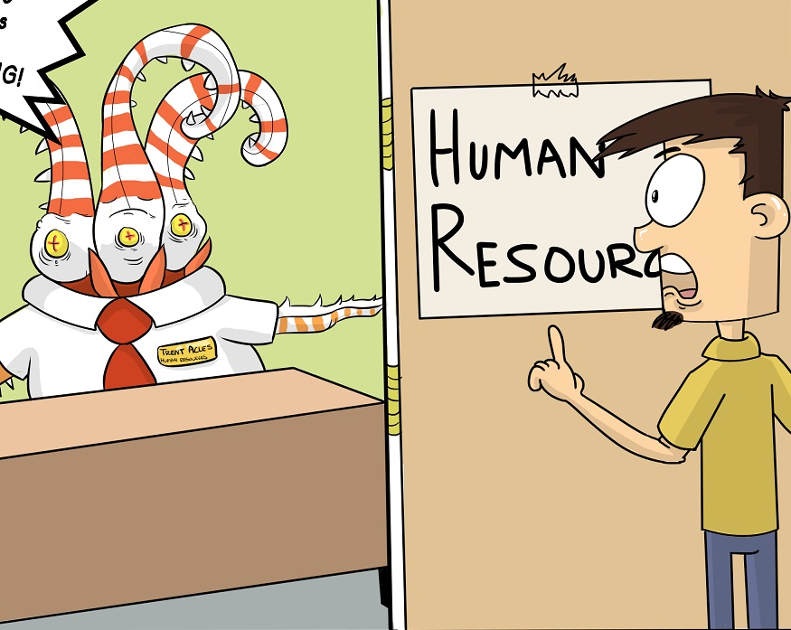 Under Development Video Game Kickstarter web comic continues to look at Human Resources from Uber Entertainment.
