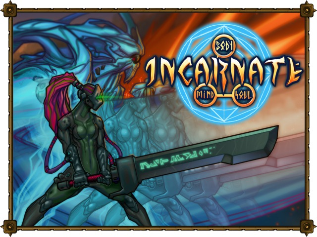Incarnate is a fully 3D tactical strategy fused with a collectible card game; like Final Fantasy Tactics meets Magic the Gathering.