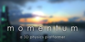 Momentum is a 3D puzzle platformer video game that now on Kickstarter.