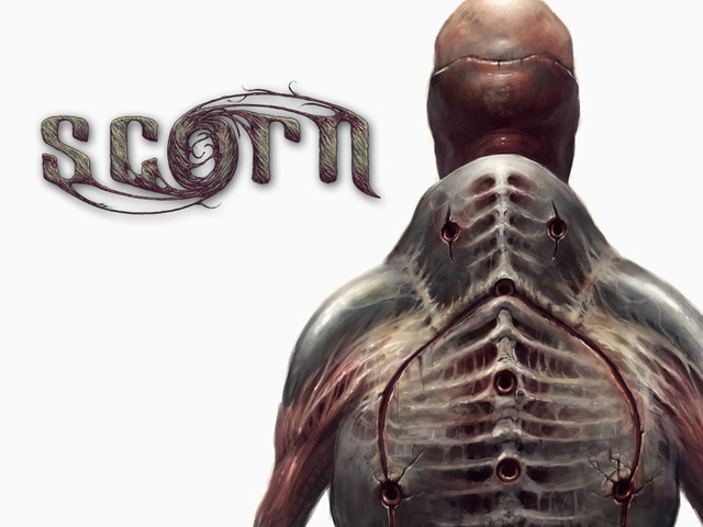 Scorn is a first person survival horror game that's on Kickstarter.